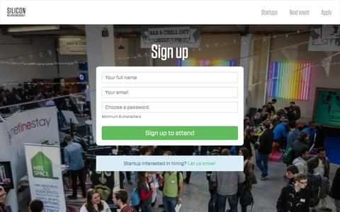 Screenshot of Signup Page siliconmilkroundabout.com - Silicon Milkroundabout - captured Oct. 26, 2014