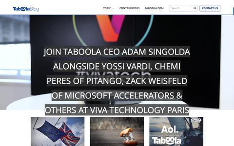 Screenshot of Blog taboola.com - Home - captured June 30, 2016