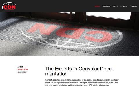 Screenshot of Home Page cdn-consular.co.uk - CDN - captured March 8, 2016