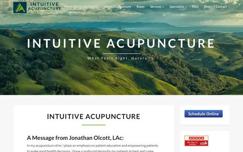 Screenshot of Home Page intuitive-acupuncture.com - Intuitive Acupuncture: San Luis Obispo Acupuncture - captured Sept. 19, 2018