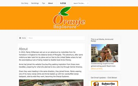 Screenshot of About Page oranjeexplorers.com - About   Oranje Explorers - captured Oct. 26, 2014