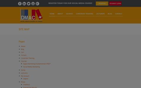 Screenshot of Site Map Page digitalmediaacademyofcanada.com - Site Map | Digital Media Academy of Canada - captured Jan. 7, 2016