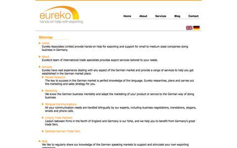 Screenshot of Site Map Page eureko.co.uk - Sitemap | Eureko Associates Ltd - captured Oct. 28, 2014