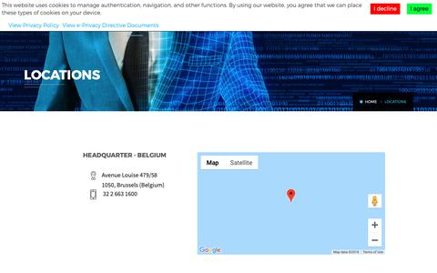 Screenshot of Locations Page hightechpartners.net - Locations - captured Dec. 8, 2018