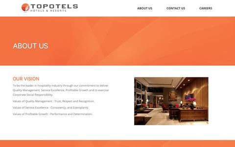 Screenshot of About Page topotels.com - About Us - Topotels Topotels - captured Nov. 7, 2018