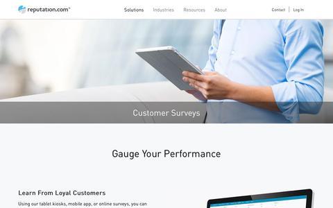 Customer Satisfaction Surveys, Online Survey Tool