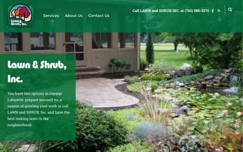Screenshot of Home Page lawnandshrub.com - Lawn and Shrub Inc. – LAWN and SHRUB INC. - captured Oct. 31, 2016