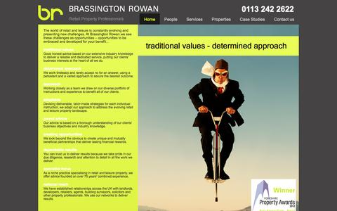 Screenshot of Home Page brassrow.co.uk - Welcome to Brassington Rowan - captured Oct. 5, 2014