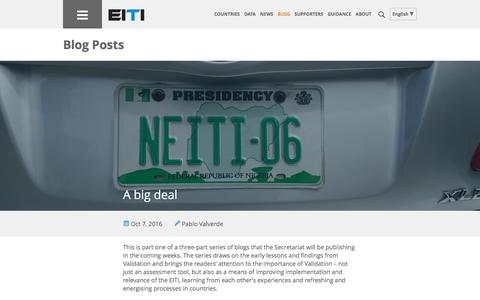 Screenshot of Blog eiti.org - Blog Posts | Extractive Industries Transparency Initiative - captured Oct. 10, 2016