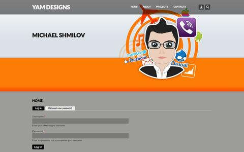Screenshot of Login Page yam.co.il - Home | YAM Designs - captured Oct. 3, 2014