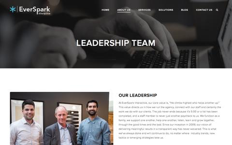 Screenshot of Team Page eversparkinteractive.com - Leadership Team   Chris Watson   Matt McLean   Moe Shahzad - captured May 22, 2017