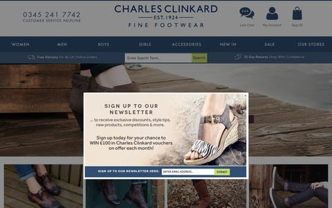 Screenshot of Home Page charlesclinkard.co.uk - Womens, Mens, Girls & Boys shoes at Charles Clinkard - captured Oct. 8, 2015