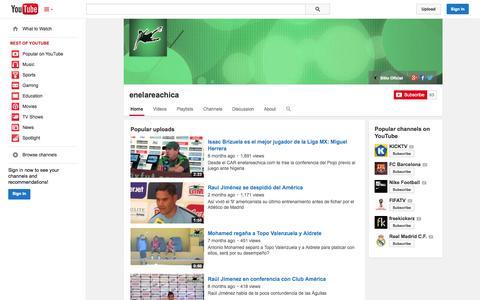 Screenshot of YouTube Page youtube.com - enelareachica  - YouTube - captured Oct. 30, 2014