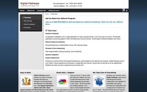 Screenshot of Services Page dpc-llc.com - IT Services - captured Dec. 6, 2016