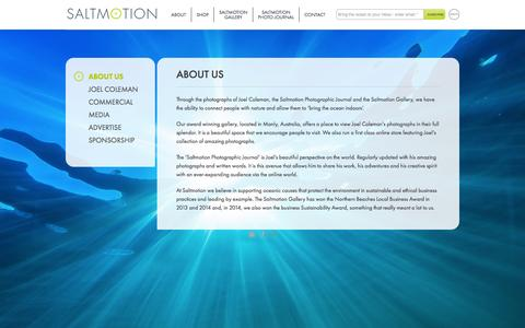 Screenshot of About Page saltmotion.com - About Us | saltmotion - - captured Oct. 29, 2014