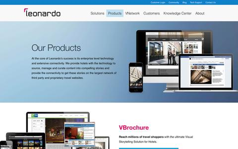 Screenshot of Products Page leonardo.com - Leonardo.com | Products - captured Sept. 16, 2014