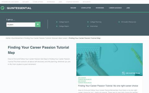 Screenshot of Maps & Directions Page livecareer.com - Finding Your Career Passion Tutorial Map | LiveCareer - captured Aug. 21, 2017