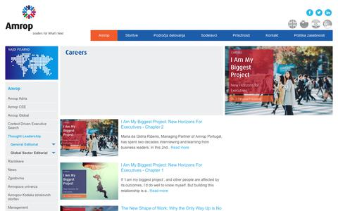 Screenshot of Jobs Page amrop.si - Careers   Amrop   Leaders For What's Next - captured Oct. 3, 2018