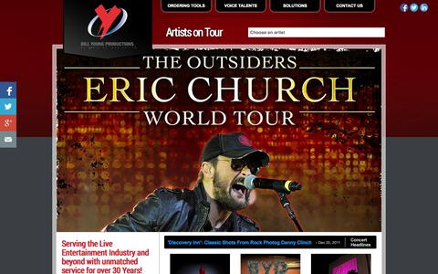 Screenshot of Home Page byp.com - Tour Marketing | Bill Young Productions - captured Oct. 5, 2014