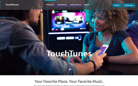 Screenshot of Home Page touchtunes.com - TouchTunes | Home - captured July 10, 2019