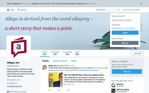 Allego, Inc. (@allegosoftware) | Twitter