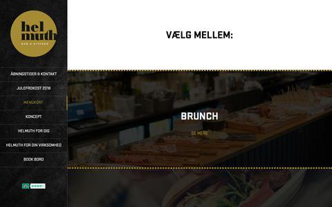 Screenshot of Menu Page helmuthaalborg.dk - Menu – Helmuth - captured Sept. 30, 2018