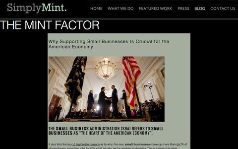 Screenshot of Blog simplymint.com - Digital Blog - captured Oct. 26, 2014