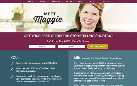 Screenshot of About Page maggiepatterson.com - About - Maggie Patterson - captured Dec. 21, 2015