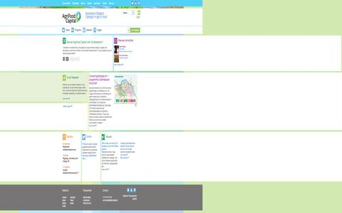 Screenshot of Home Page Menu Page agrifoodcapital.nl - AgriFood Capital   Sowing innovation  Harvesting the future - captured Sept. 30, 2014