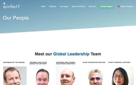 Screenshot of Team Page spinifexit.com - SpinifexIT Global Leadership Team - captured Nov. 17, 2018