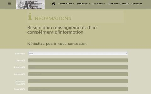 Screenshot of Contact Page FAQ Page chapelle-marimont-bourdonnay.org - Contacter l'association - captured Oct. 29, 2018
