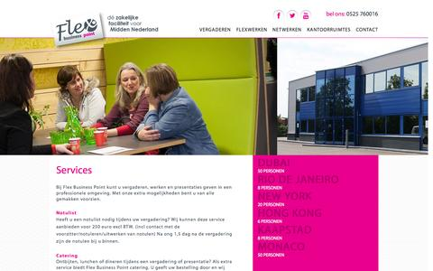 Screenshot of Services Page flexbusinesspoint.nl - Services - Flex Business point - captured Sept. 30, 2014