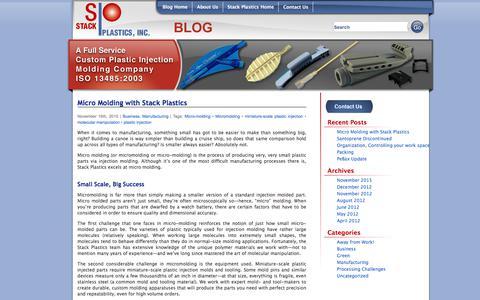 Screenshot of Blog stackplastics.com - Stack Plastics Blog | - captured Oct. 24, 2017