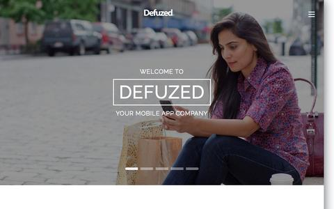 Screenshot of Home Page defuzed.in - ✅ Mobile App Developers, App Development Company - Defuzed - captured Sept. 1, 2015
