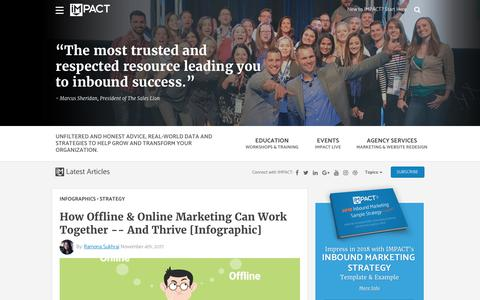 Screenshot of Home Page impactbnd.com - IMPACT: Inbound Marketing Strategy, Advice, and Agency - captured Nov. 5, 2017