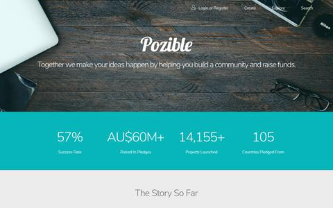 Screenshot of About Page pozible.com - Pozible - About - captured Oct. 9, 2017