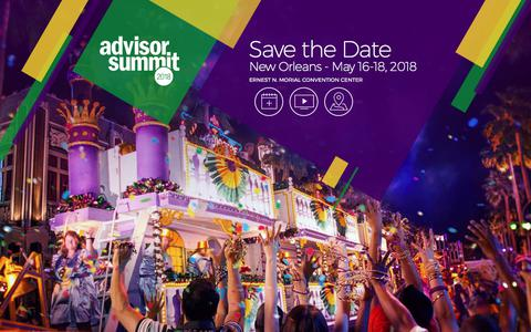 Advisor Summit 2018 - Save the Date