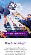 New Landing Page ASA College