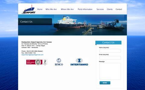 Screenshot of Contact Page seaportagencies.com - Contact Us | Seaport Agencies - captured Oct. 3, 2014