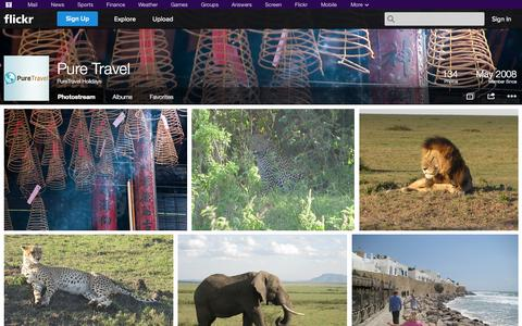 Screenshot of Flickr Page flickr.com - Flickr: PureTravel Holidays' Photostream - captured Oct. 22, 2014