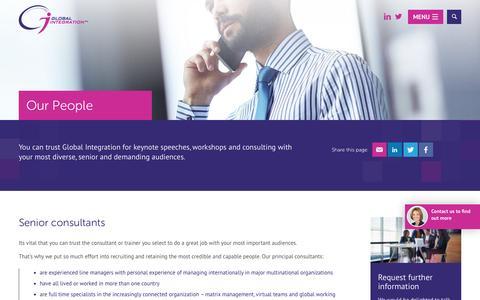 Screenshot of Team Page global-integration.com - Our People - Global Integration - captured May 19, 2017