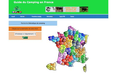 Screenshot of Locations Page campingdefrance.com - Locations - captured March 13, 2018