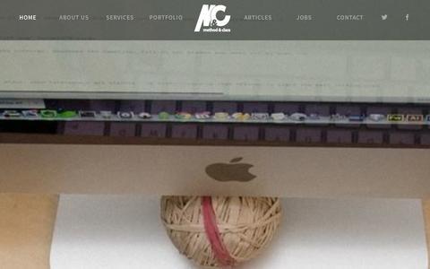 Screenshot of Home Page methodandclass.com - Method & Class   Web Design   Digital Agency   Milton Keynes - captured Sept. 25, 2014