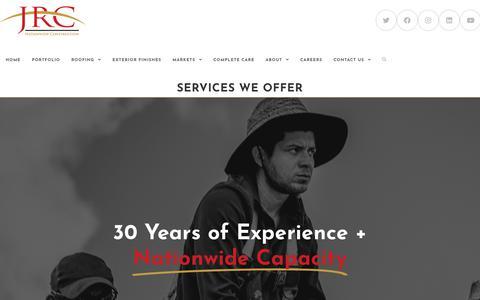 Screenshot of Services Page jrcinco.com - Services We Offer  - JRC - captured Jan. 7, 2020