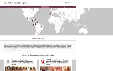 Screenshot of FAQ Page eude.es - EUDE Internacional - Eude Business School - captured Oct. 17, 2016
