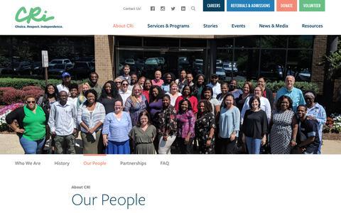 Screenshot of Team Page mycri.org - Our People   CRi - Community - captured Nov. 1, 2018