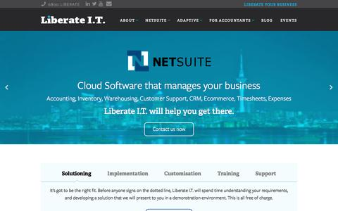 Screenshot of Home Page liberateit.co.nz - Liberate I.T. - NetSuite's Largest New Zealand Partner - captured May 17, 2017