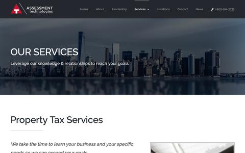 Screenshot of Services Page atechltd.com - Assessment Technologies - Business Property Tax Services - captured Oct. 4, 2018
