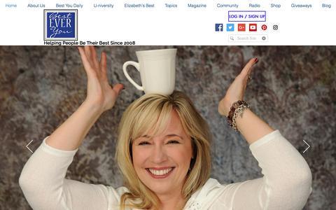 Screenshot of Home Page besteveryou.com - Best Ever You | Live Your Best Life | Elizabeth Hamilton-Guarino - captured Aug. 1, 2018