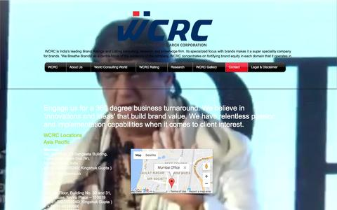Screenshot of Contact Page wcrc.co - WCRC Contact - captured Nov. 29, 2016